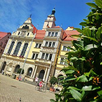 Der Rathausplatz in Ingolstadt
