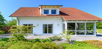 Einfamilienhaus weiß