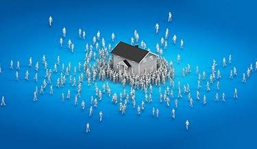Viele Interessenten für eine Immobilie
