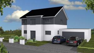 Diese moderne Stadtvilla haben wir frei nach Kundenwusch geplant und in Dessau-Roßlau gebaut.