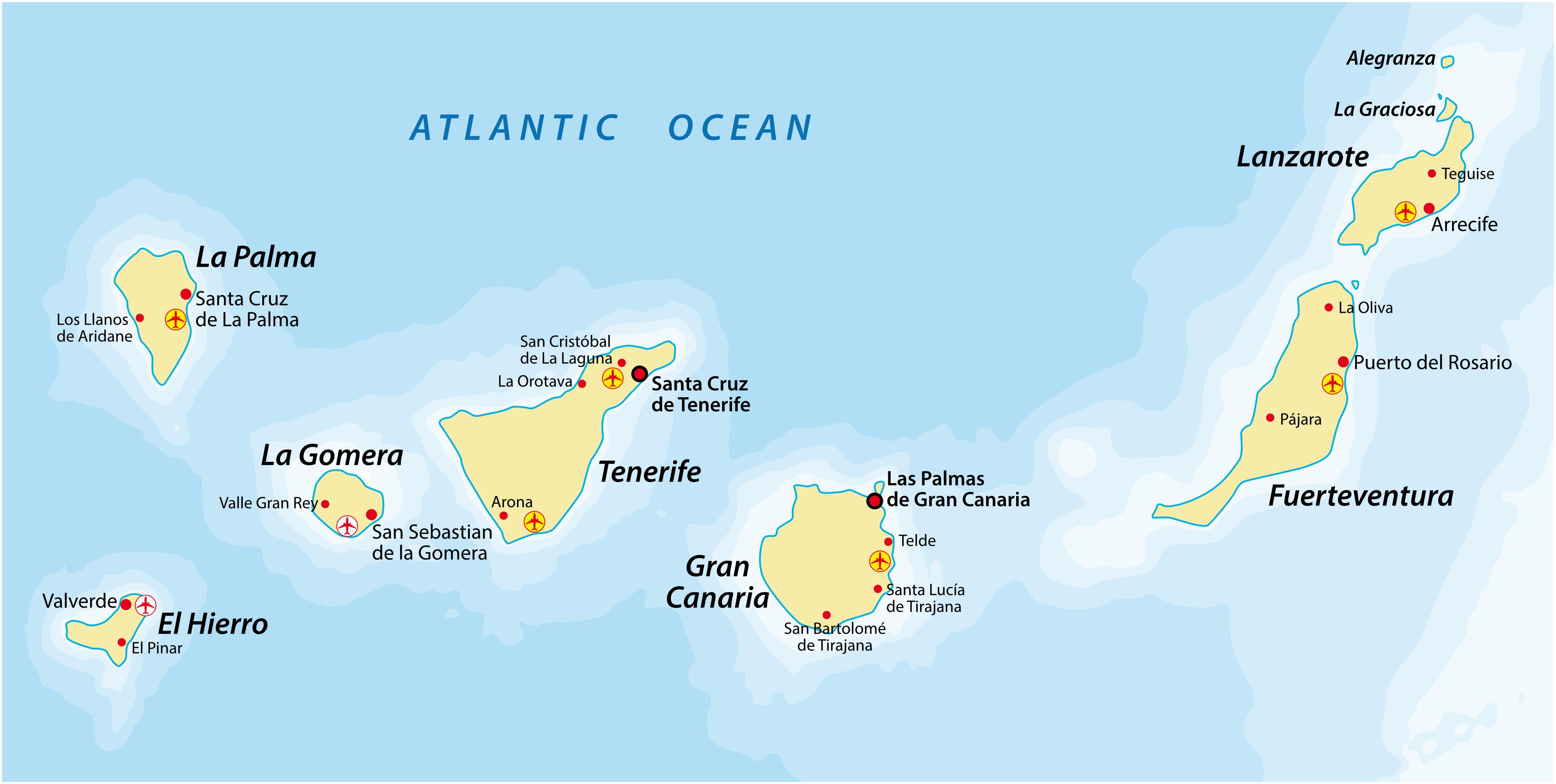 Landkarte Kanaren
