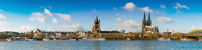 Panoramaaufnahme von Köln