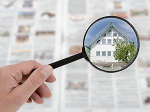 Immobiliensuche in der Zeitung