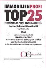 Top 25-Auszeichnung für Konnerth Immobilien
